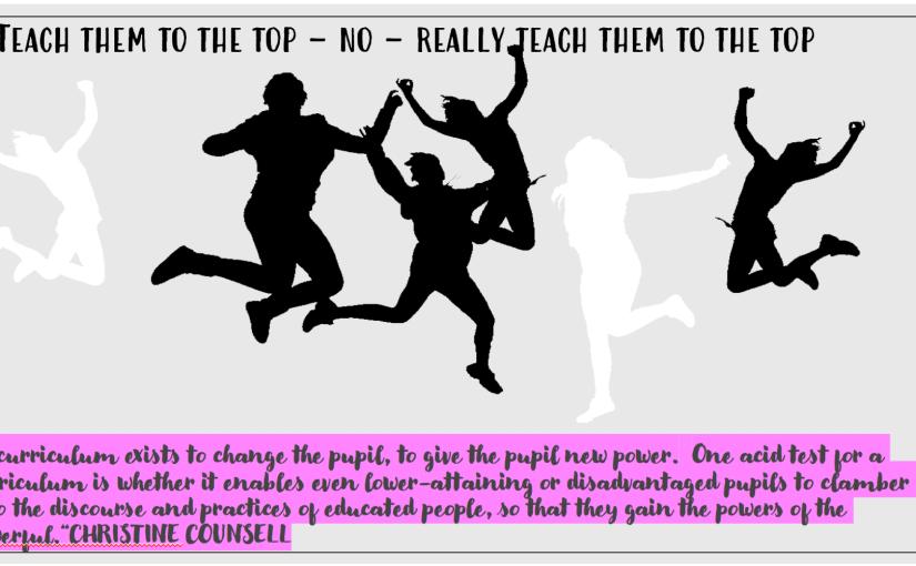 Teach them to the top – no – really teach them to thetop